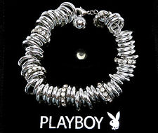Playboy Jewellery Mulit Ring & Ball Bracelet with Swarovski Crystals PB0138