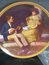 Norman Rockwell Pondering On The Porch Knowles 1982 Ltd Ed Plate Mib