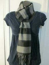 Men's Women's Black and Grey DG Cashmere Feel Large Plaid Check Scarf