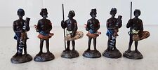 Australian Aboriginals 6 x Miniature Aborigine Resin Figures  5 cm tall