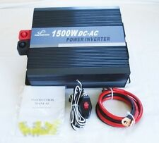 1500W 24V Pure Sine Wave Power Inverter with Remote Control & USB Connection
