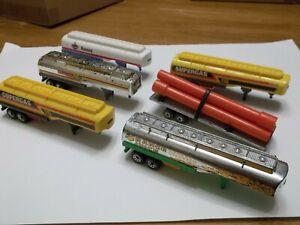 6 x Matchbox Convoy Trailers - Supergas Amoco Pipe Shell - Job Lot
