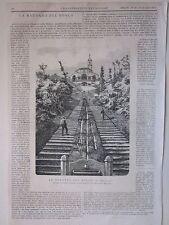 1875 MADONNA DEL BOSCO IN BRIANZA Imbersago xilografia Illustrazione Universale