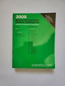 2008 Sweets Catalog Catalogue McGraw-Hill Finishes Volume 5 Architectural