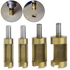 """4 x 1/4"""" Rod Titanium Barrel Plug Drill Cutter Cork Spike Hole Saw Wood Tool"""