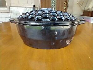 John Wright Cast Iron Wood Stove Oval Steamer Humidifier Potpourri Pot with Lid