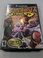 Super Mario Strikers (Nintendo GameCube, 2005) Complete CIB Black Label