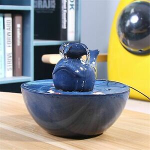 Cat Water Drinking Fountain Bowl Dogs Pet Dispenser Automatic Electric Ceramic