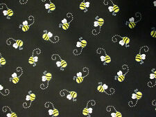 BEES BUMBLE YELLOW BLACK BEE COTTON FABRIC BTHY