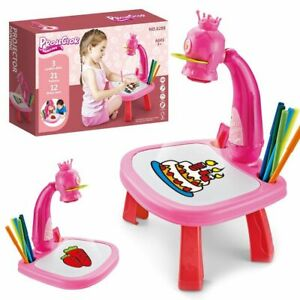 American Girl Doll School Desk Children Art & Drawing Table For Study With Lamp
