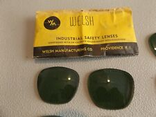 NEW 2 ( 1 PAIR) WM WELSH REPLACEMENT GREEN SAFETY GLASS LENSES 2.0 48MM