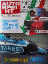Autosprint n°6 1979 Trofeo Alfasud con neve [P8]