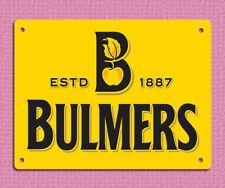 metal sign plaque vintage retro style Bulmers bar mancave image 20 x 15cm