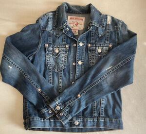 !! Original !! TRUE RELIGION - Jeans - Jacke des US Edel-Kult Labels