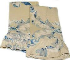 RALPH LAUREN Newburgh Floral STANDARD PILLOWCASES NEW Blue Tan