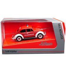 VW Beetle Fire Brigade Red 1:64 Schuco Diecast Model 452014800