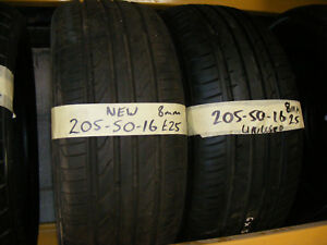 205 50 16 NEW / UNUSED TYRES 8mm FITTED AND BALANCED