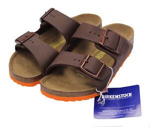 NWT - BIRKENSTOCK Kids' 'ARIZONA' Brown SLIP-ON LEATHER STRAP SANDAL SHOES - C8