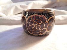 """Nice floral design Cloisonne wide bangle bracelet brass on the inside 2"""" wide"""