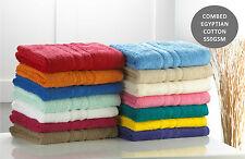 Luxury Egyptian Cotton Towel Combed Cotton Deep Pile Face Hand Bath Sheet 600GSM