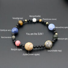 Solar System Bangle Galaxy Bracelet Natural Stone Nine Planets Wristbands