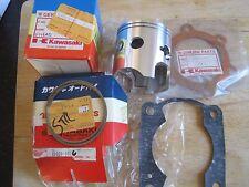 KAWASAKI NOS PISTON & RINGS + HEAD GASKET STD SIZE KDX250 13001-1039 13008-5026