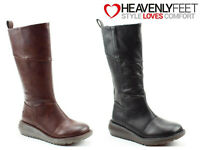 Ladies Tall Winter Boots Heavenly Feet Memory Foam Zip Up Comfy Casual Shoes