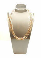 "Antique Gold Long Guard Chain Rose 60"" 9 Carat 33.3 grams"