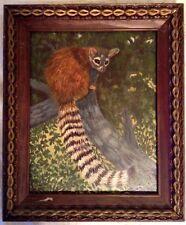 Vintage Primitive R Westmoreland Ringtail Painting Folk Art Masonite Arizona