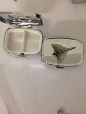 Vulcan Bomber R91 English Pewter Emblem on a Rectangular Travel Metal Pill Box