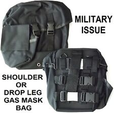 NEW Black Tactical Gas Mask Carrier Drop Leg Pouch Respirators Carry Bag W/Strap