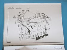 BIMOTA KB1 KAWASAKI FACTORY PARTS LIST COPY/DRAWINGS/PART NUMBERS ETC