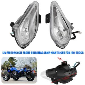 12V Motorcycle ATV Front Bulb Head Lamp Night Light For 150-250cc Quad Dirt Bike