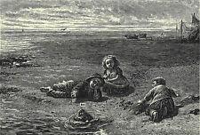 ENOCH ARDEN 1881 William McTaggart - Lord Tennyson VICTORIAN PRINT