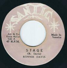 """Ronnie Davis - Stage / Dub - Santic 7"""" 45T Rare 70's Reggae ♫"""