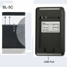 1020mAh Li-Ion Batería Para Nokia BL5C Original Cargador 3.7V Batería De Repuesto