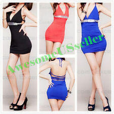 1 SIZE XS-L lady sexy dress+G-string prom fashion SHINNING open back clubwear187