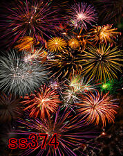 hoga  Fireworks Holiday  5X7 FT CP SCENIC PHOTO BACKGROUND BACKDROP SS374