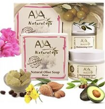 Premium Vegan Moisturizer Cream + Natural Olive Soap Rose Kit - Exp:07/17 -Read!