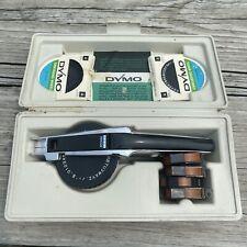 Vintage Dymo 1550 Labeling Kit Tapewriter Wheel Bundle With Hard Carrying Case