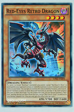 YuGiOh Red-Eyes Retro Dragon LDK2-ENJ04 Common 1st Edition x3