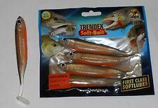 Una confezione con 4 pesci in gomma, shads,, Behr, lunghezza 13cm, trendex Power MINNOW 9107