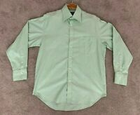 Herringbone Bespoke Mens Button Up Shirt Long Sleeve Size Large - RRP $229.99