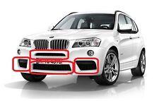 BMW Nuovo Orig X3 F25 2010-2014 M Sport Paraurti Anteriore Griglia Mesh Set di 4 pezzi