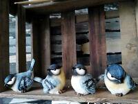 4 x Meise Kohlmeise Singvogel M Naturgetreu Figur Statue Vogel Naturschutz