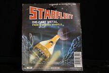Starfleet Plane Die-Cast Metal Free Running Wheels LARAMI Vintage Toy oran/white