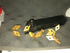 """New listing Dcmt 432 Carbise Inserts With Free 5/8"""" Tool Holder 10 carbide inserts"""