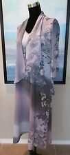CITRON Santa Monica Asian Silk Floral Dress & Top Sz M