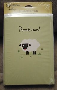 8 Hallmark Expressions Thank Ewe Sheep Lamb Thank You Cards & Envelopes Blank
