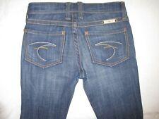 Frankie B Jeans F Pockets Low Slight Bootcut Dark Distressed  Sz  2 Nice !!